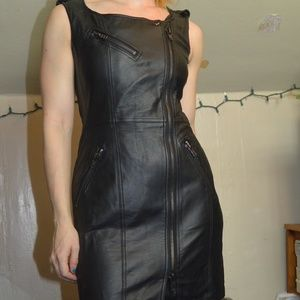 VENUS leather dress